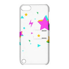 Star Triangle Space Rainbow Apple Ipod Touch 5 Hardshell Case With Stand