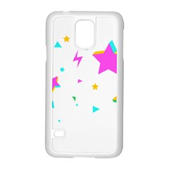 Star Triangle Space Rainbow Samsung Galaxy S5 Case (white)