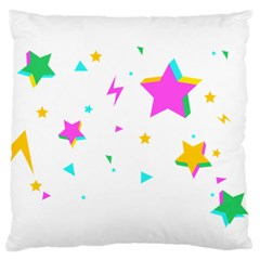 Star Triangle Space Rainbow Large Flano Cushion Case (two Sides)