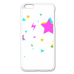 Star Triangle Space Rainbow Apple Iphone 6 Plus/6s Plus Enamel White Case by Alisyart