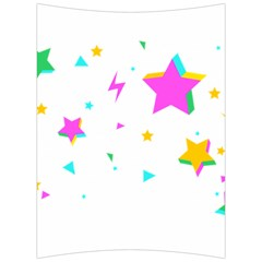 Star Triangle Space Rainbow Back Support Cushion