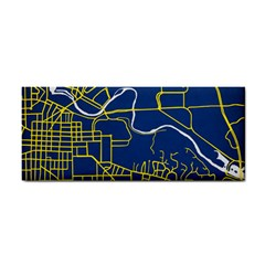 Map Art City Linbe Yellow Blue Cosmetic Storage Cases