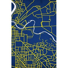Map Art City Linbe Yellow Blue 5 5  X 8 5  Notebooks by Alisyart