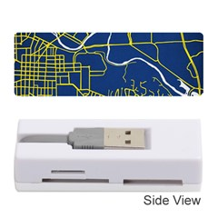 Map Art City Linbe Yellow Blue Memory Card Reader (stick)  by Alisyart