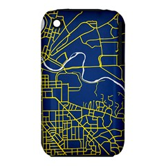 Map Art City Linbe Yellow Blue Iphone 3s/3gs by Alisyart