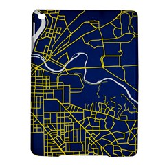 Map Art City Linbe Yellow Blue Ipad Air 2 Hardshell Cases by Alisyart
