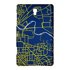 Map Art City Linbe Yellow Blue Samsung Galaxy Tab S (8 4 ) Hardshell Case  by Alisyart