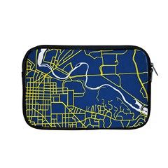 Map Art City Linbe Yellow Blue Apple Macbook Pro 13  Zipper Case by Alisyart