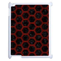 Hexagon2 Black Marble & Red Wood (r) Apple Ipad 2 Case (white) by trendistuff