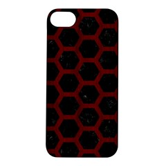 Hexagon2 Black Marble & Red Wood (r) Apple Iphone 5s/ Se Hardshell Case by trendistuff