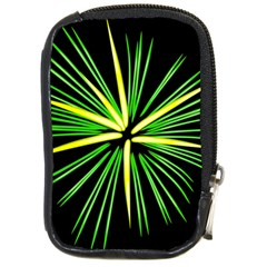 Fireworks Green Happy New Year Yellow Black Sky Compact Camera Cases by Alisyart