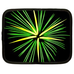 Fireworks Green Happy New Year Yellow Black Sky Netbook Case (xxl)