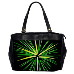 Fireworks Green Happy New Year Yellow Black Sky Office Handbags