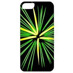 Fireworks Green Happy New Year Yellow Black Sky Apple Iphone 5 Classic Hardshell Case
