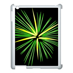 Fireworks Green Happy New Year Yellow Black Sky Apple Ipad 3/4 Case (white)
