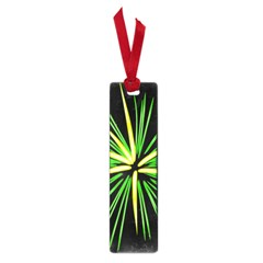 Fireworks Green Happy New Year Yellow Black Sky Small Book Marks