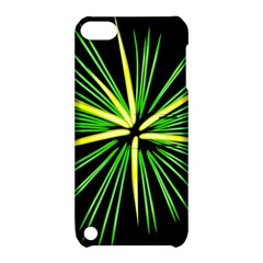 Fireworks Green Happy New Year Yellow Black Sky Apple Ipod Touch 5 Hardshell Case With Stand