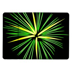Fireworks Green Happy New Year Yellow Black Sky Samsung Galaxy Tab 10 1  P7500 Flip Case