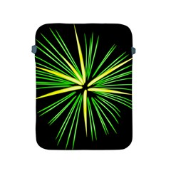 Fireworks Green Happy New Year Yellow Black Sky Apple Ipad 2/3/4 Protective Soft Cases by Alisyart