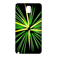 Fireworks Green Happy New Year Yellow Black Sky Samsung Galaxy Note 3 N9005 Hardshell Back Case by Alisyart