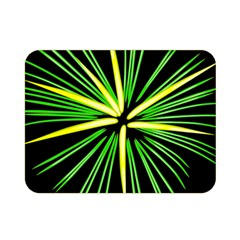 Fireworks Green Happy New Year Yellow Black Sky Double Sided Flano Blanket (mini)  by Alisyart