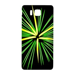 Fireworks Green Happy New Year Yellow Black Sky Samsung Galaxy Alpha Hardshell Back Case by Alisyart