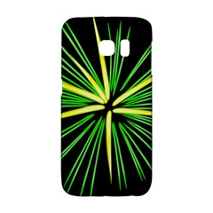 Fireworks Green Happy New Year Yellow Black Sky Galaxy S6 Edge by Alisyart