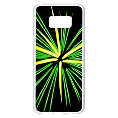 Fireworks Green Happy New Year Yellow Black Sky Samsung Galaxy S8 Plus White Seamless Case by Alisyart