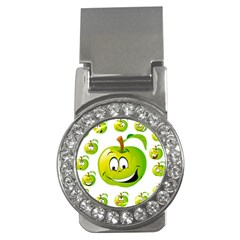 Apple Green Fruit Emoji Face Smile Fres Red Cute Money Clips (cz)