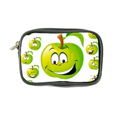 Apple Green Fruit Emoji Face Smile Fres Red Cute Coin Purse