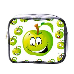 Apple Green Fruit Emoji Face Smile Fres Red Cute Mini Toiletries Bags by Alisyart