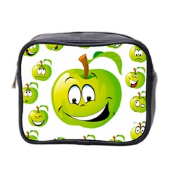 Apple Green Fruit Emoji Face Smile Fres Red Cute Mini Toiletries Bag 2 Side by Alisyart