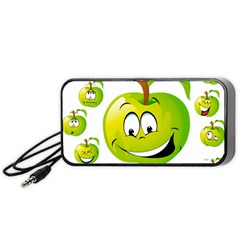 Apple Green Fruit Emoji Face Smile Fres Red Cute Portable Speaker by Alisyart