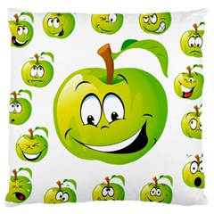 Apple Green Fruit Emoji Face Smile Fres Red Cute Large Cushion Case (one Side)