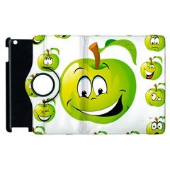 Apple Green Fruit Emoji Face Smile Fres Red Cute Apple Ipad 3/4 Flip 360 Case