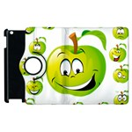 Apple Green Fruit Emoji Face Smile Fres Red Cute Apple iPad 3/4 Flip 360 Case Front