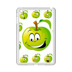 Apple Green Fruit Emoji Face Smile Fres Red Cute Ipad Mini 2 Enamel Coated Cases by Alisyart