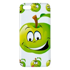 Apple Green Fruit Emoji Face Smile Fres Red Cute Apple Iphone 5 Premium Hardshell Case