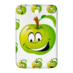 Apple Green Fruit Emoji Face Smile Fres Red Cute Samsung Galaxy Note 8 0 N5100 Hardshell Case  by Alisyart