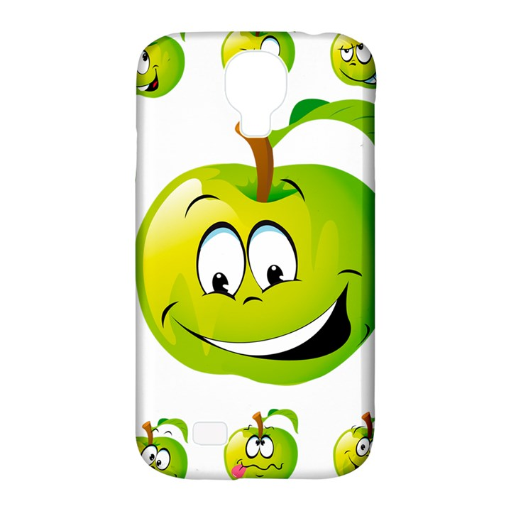 Apple Green Fruit Emoji Face Smile Fres Red Cute Samsung Galaxy S4 Classic Hardshell Case (PC+Silicone)