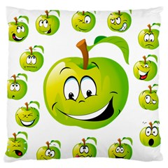 Apple Green Fruit Emoji Face Smile Fres Red Cute Standard Flano Cushion Case (one Side) by Alisyart