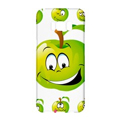 Apple Green Fruit Emoji Face Smile Fres Red Cute Samsung Galaxy S8 Hardshell Case  by Alisyart
