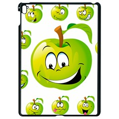 Apple Green Fruit Emoji Face Smile Fres Red Cute Apple Ipad Pro 9 7   Black Seamless Case by Alisyart