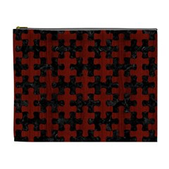 Puzzle1 Black Marble & Red Wood Cosmetic Bag (xl) by trendistuff