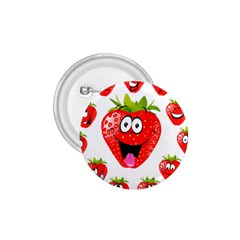 Strawberry Fruit Emoji Face Smile Fres Red Cute 1 75  Buttons