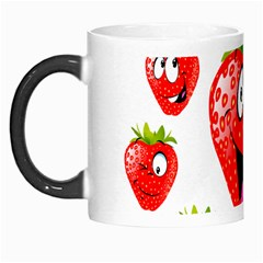 Strawberry Fruit Emoji Face Smile Fres Red Cute Morph Mugs by Alisyart