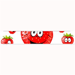 Strawberry Fruit Emoji Face Smile Fres Red Cute Small Bar Mats by Alisyart