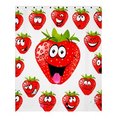 Strawberry Fruit Emoji Face Smile Fres Red Cute Shower Curtain 60  X 72  (medium)  by Alisyart