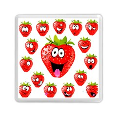 Strawberry Fruit Emoji Face Smile Fres Red Cute Memory Card Reader (square)
