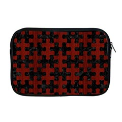 Puzzle1 Black Marble & Red Wood Apple Macbook Pro 17  Zipper Case by trendistuff